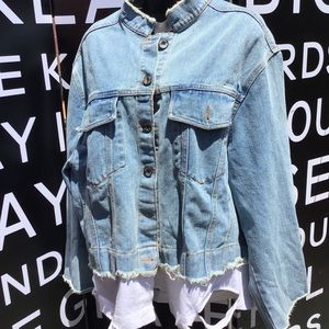 Jean jacket with t-shirt bottom